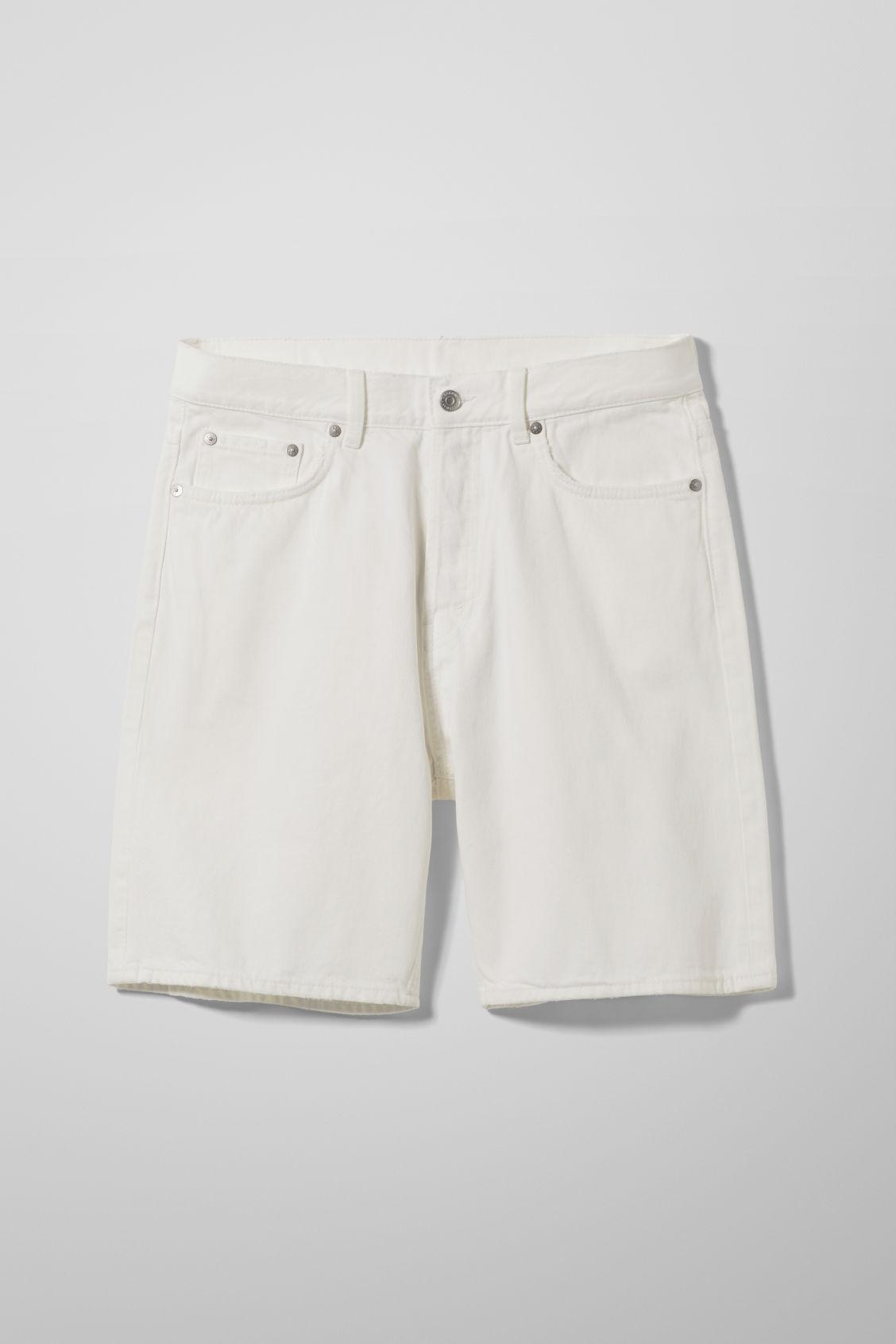 Space Denim Shorts - White