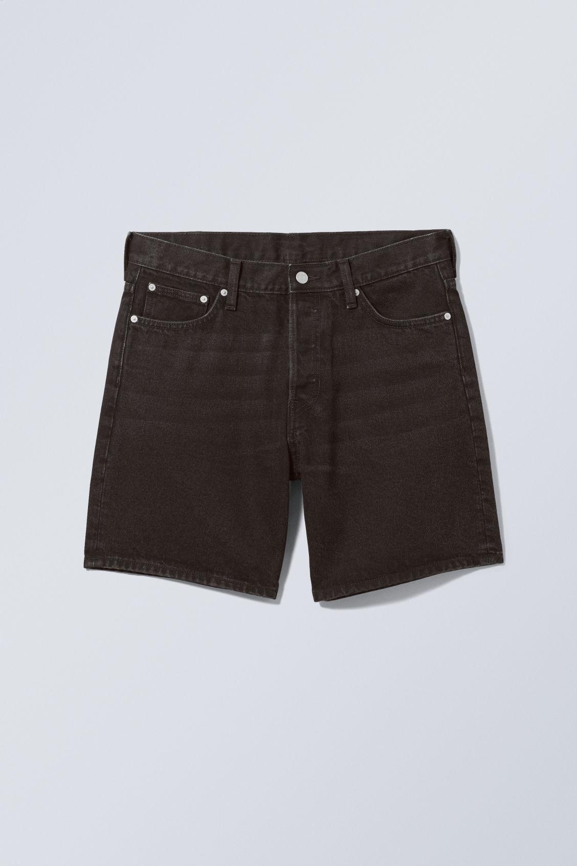 Vacant Denim Shorts - Black