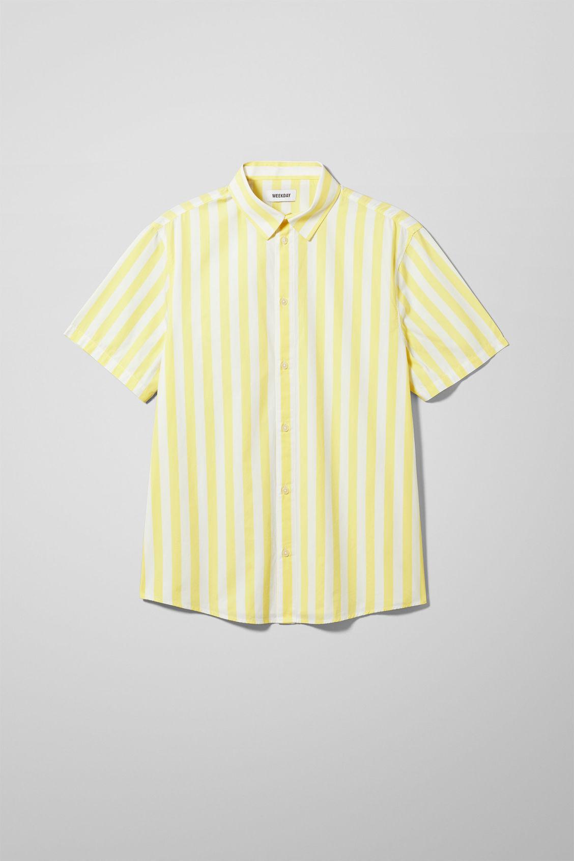 Louis Striped Short Sleeve Shirt - Yellow