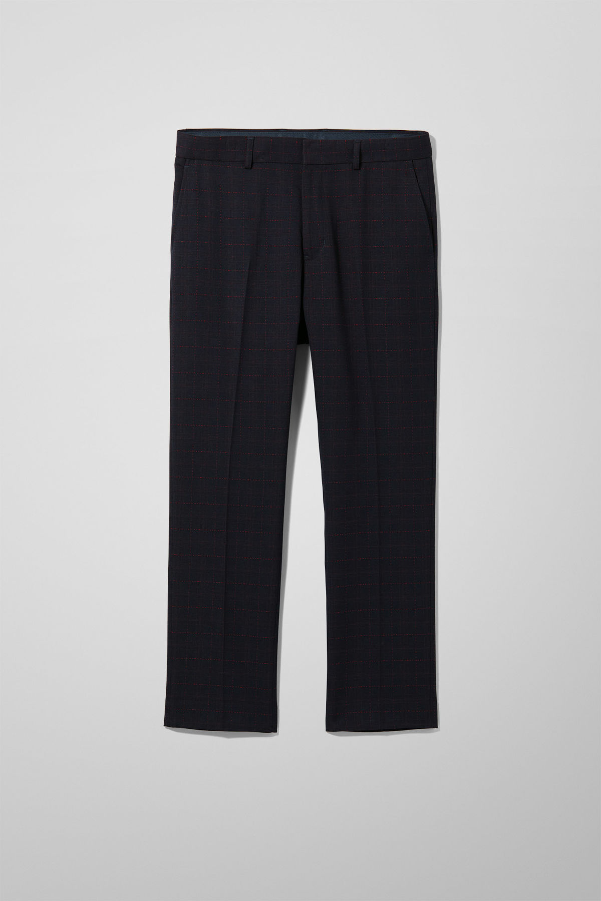 Checked Trousers - Blue