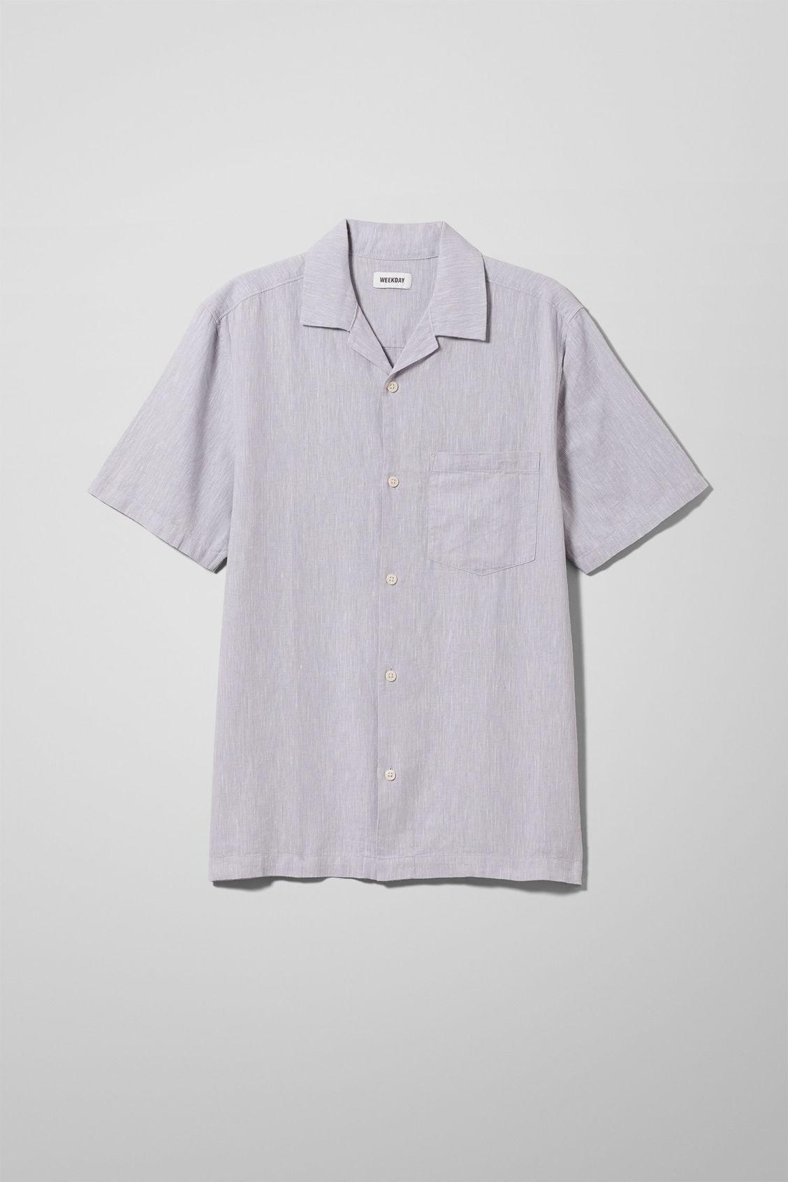 Chill Striped Short Sleeve Shirt - Purple