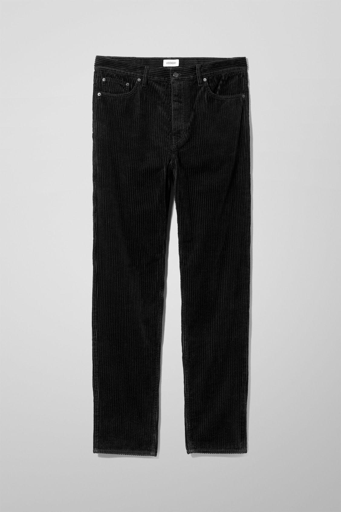 Svante Cord Trousers - Black