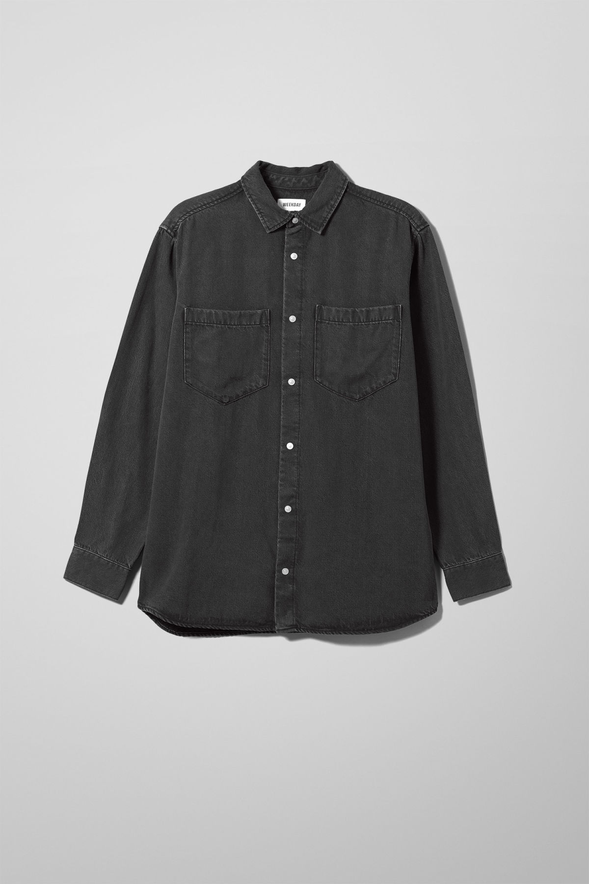 Lou Washed Black Denim Shirt - Black