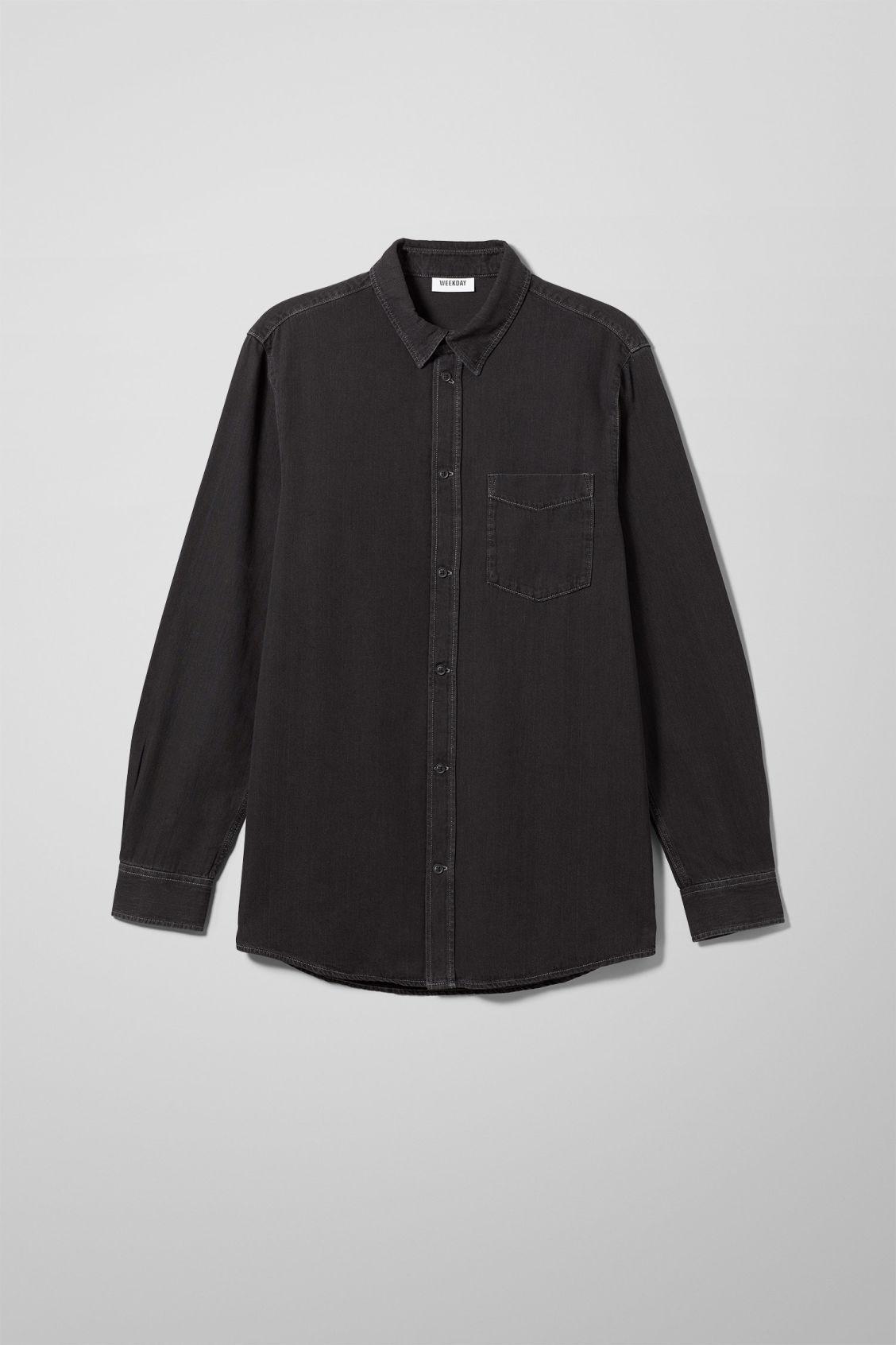 Neo Denim Shirt Washed Black - Black