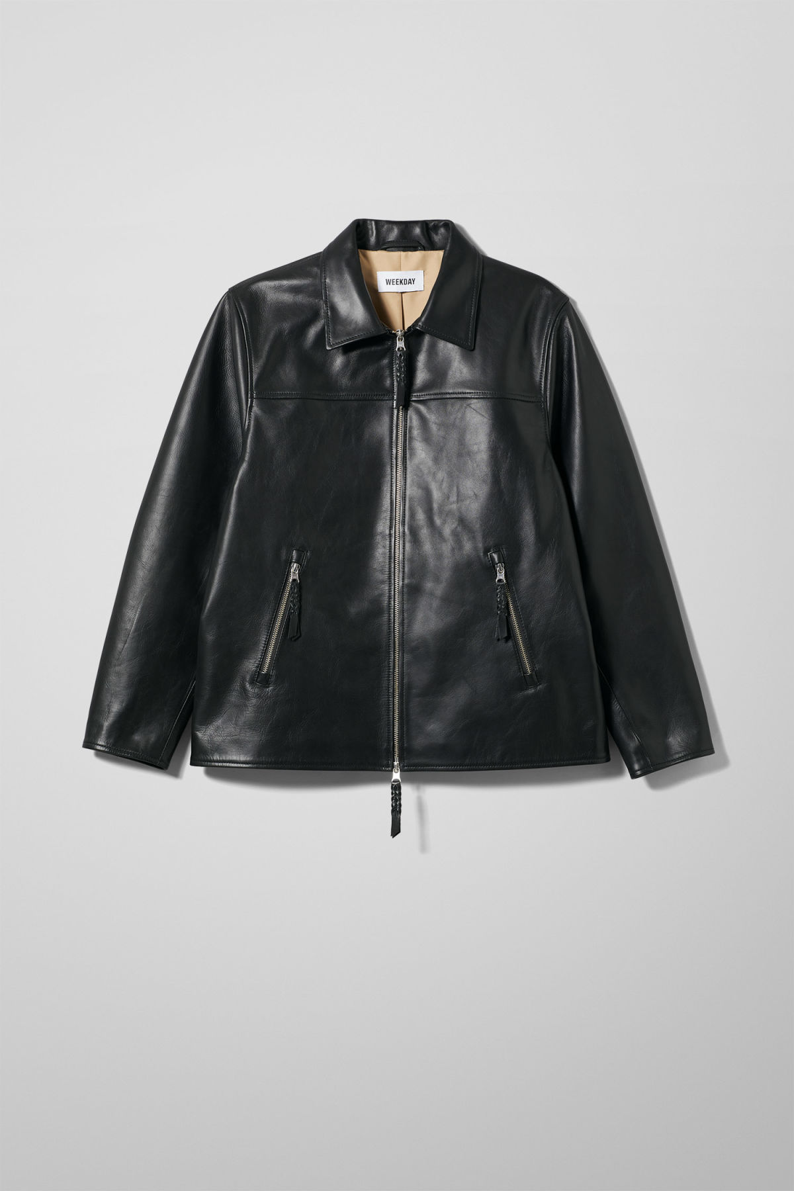 Jim Leather Jacket - Black