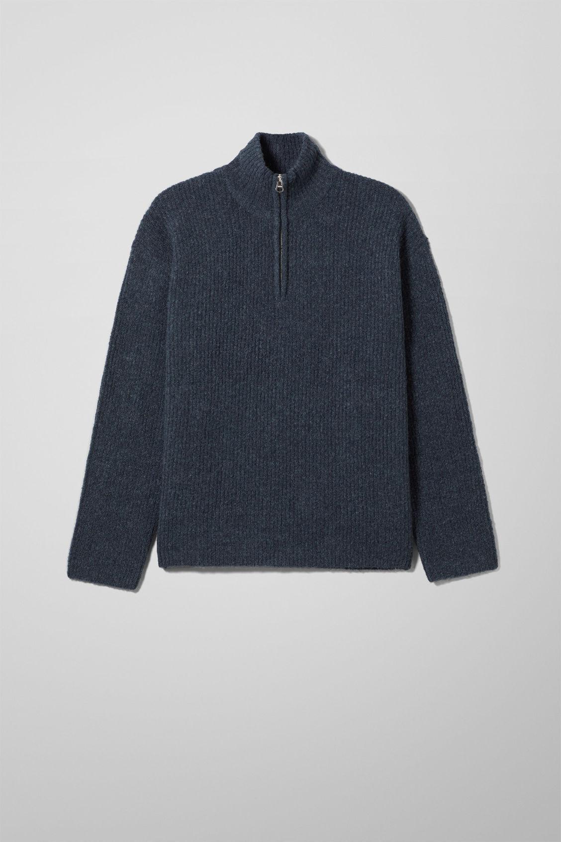 Rey Halfzip Sweater - Blue