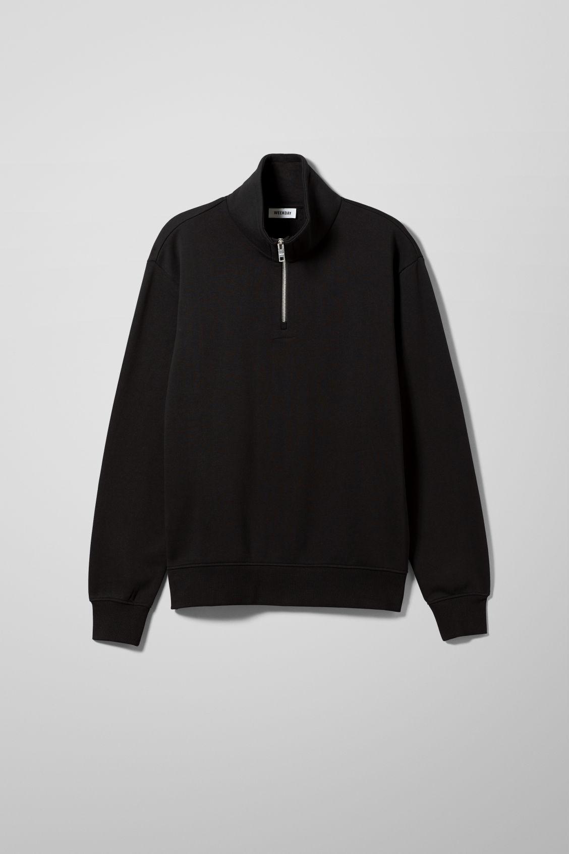 Markus Zip Sweatshirt - Black
