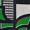 Fabric Swatch image of Weekday eden aop swim top in green