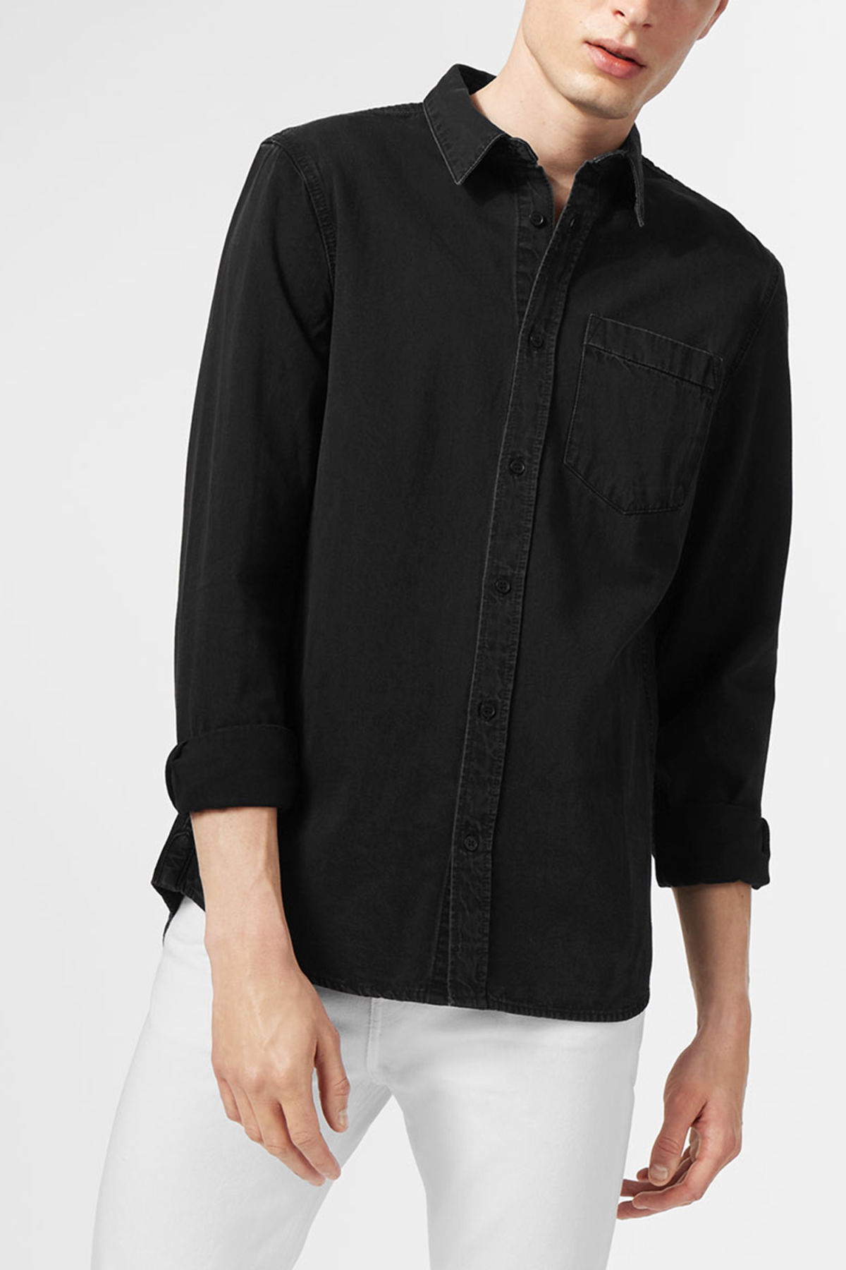 Model front image of Weekday class shirt in black