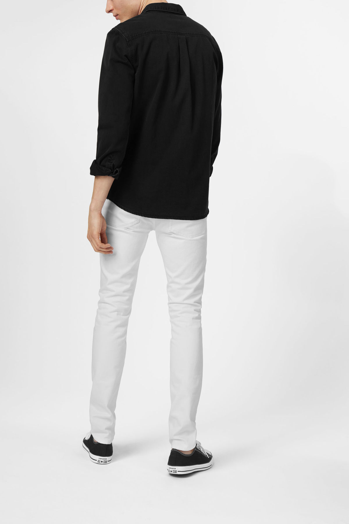 Model back image of Weekday class shirt in black
