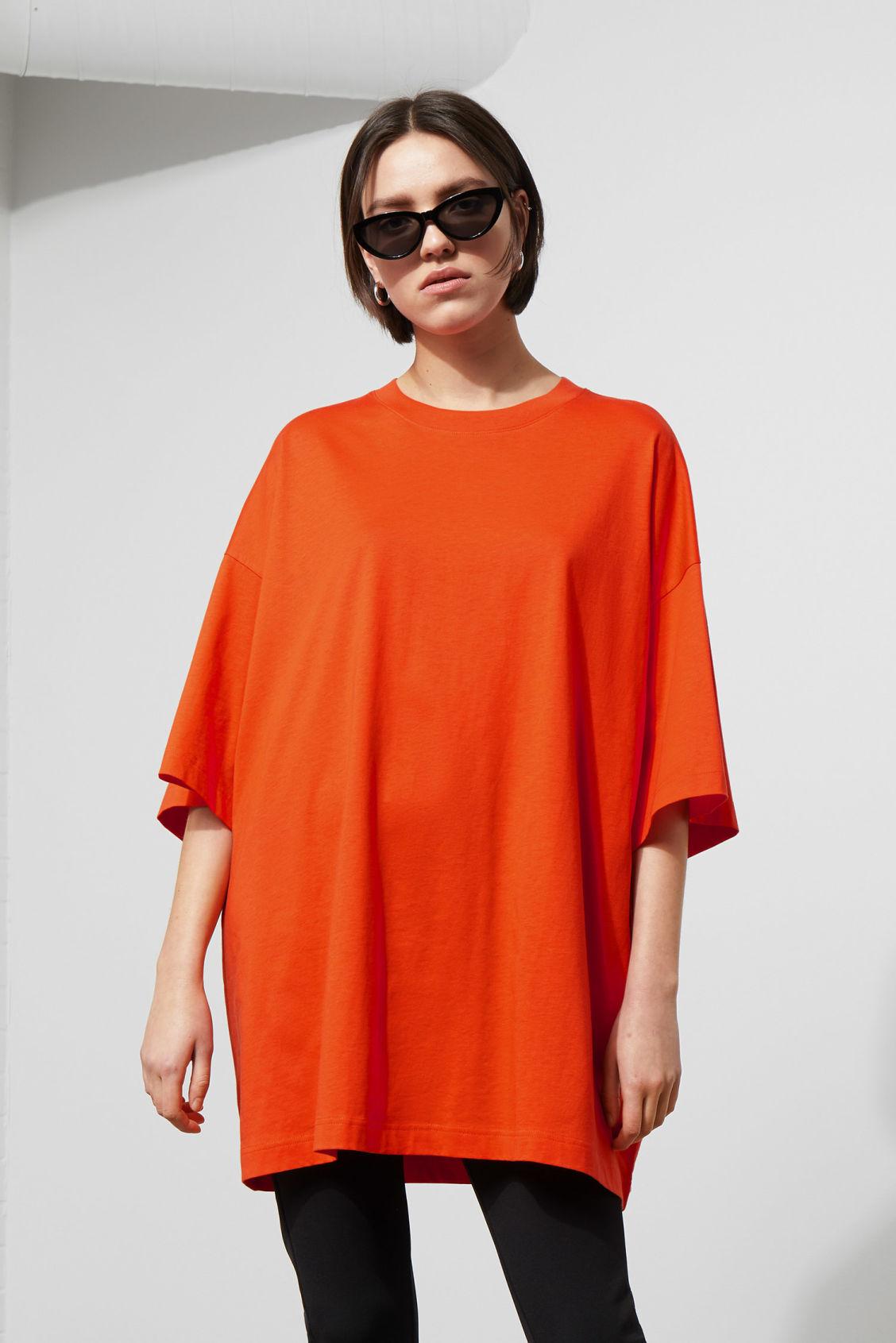 Huge T Shirt Dress Orange Dresses Jumpsuits Weekday