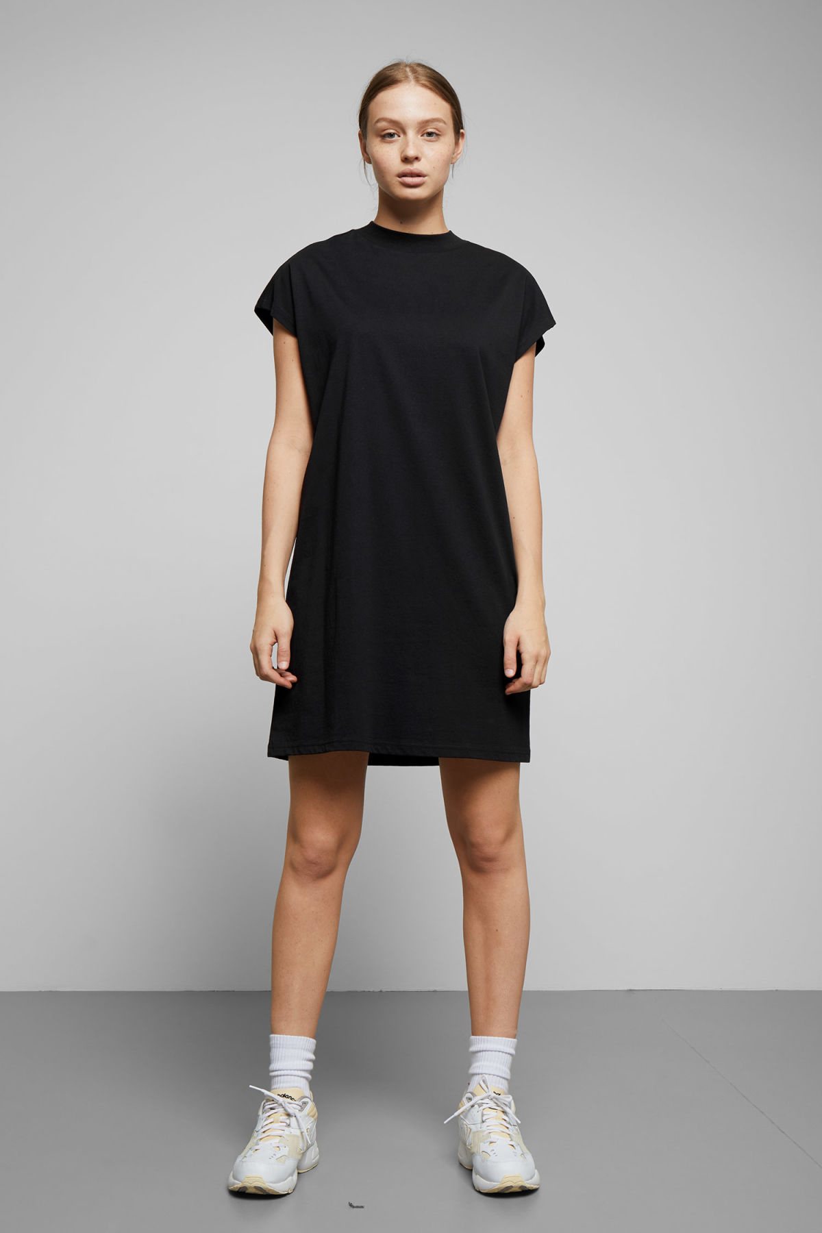Model front image of Weekday prime dress in black