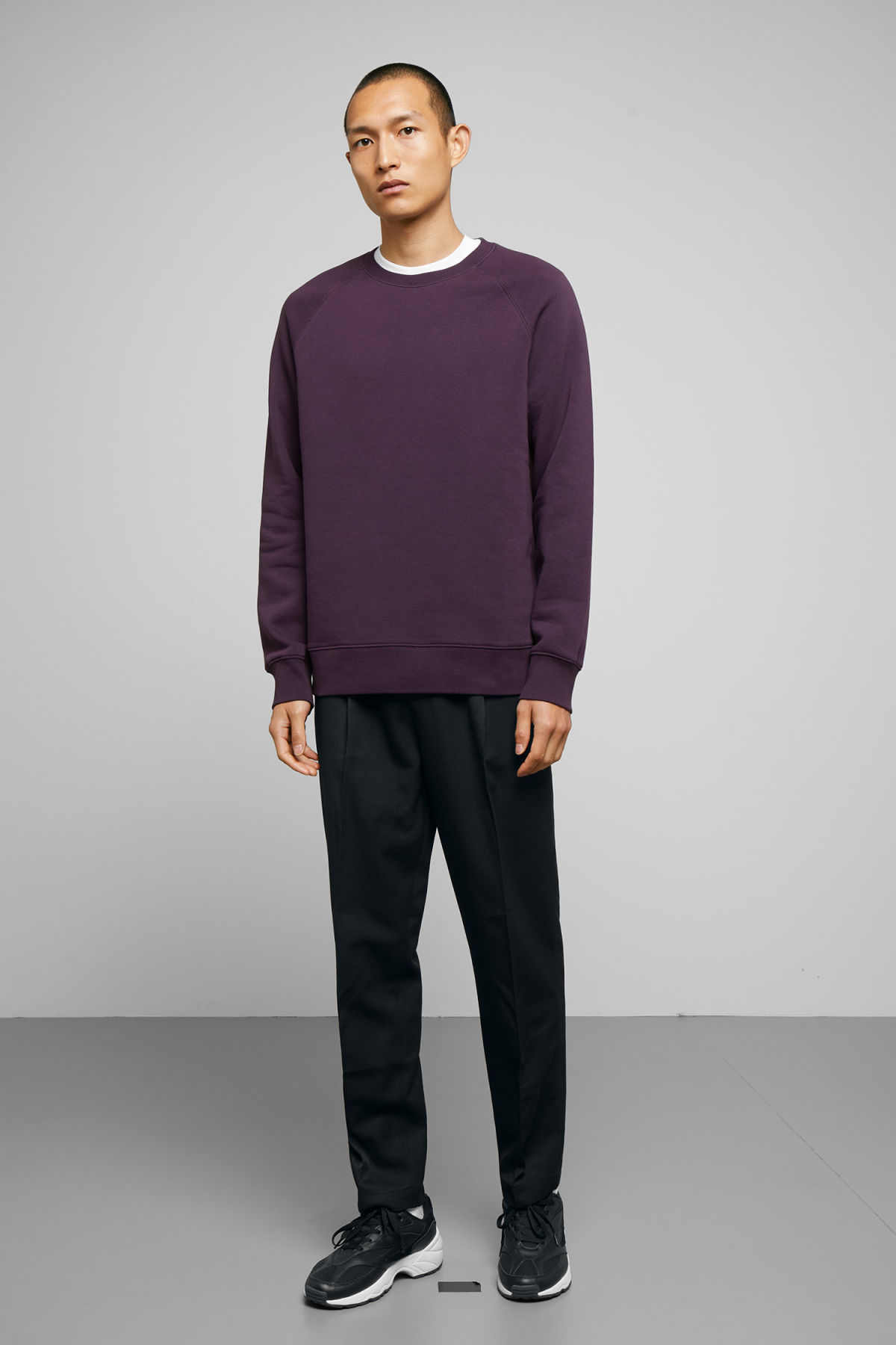 Model back image of Weekday paris sweatshirt in purple