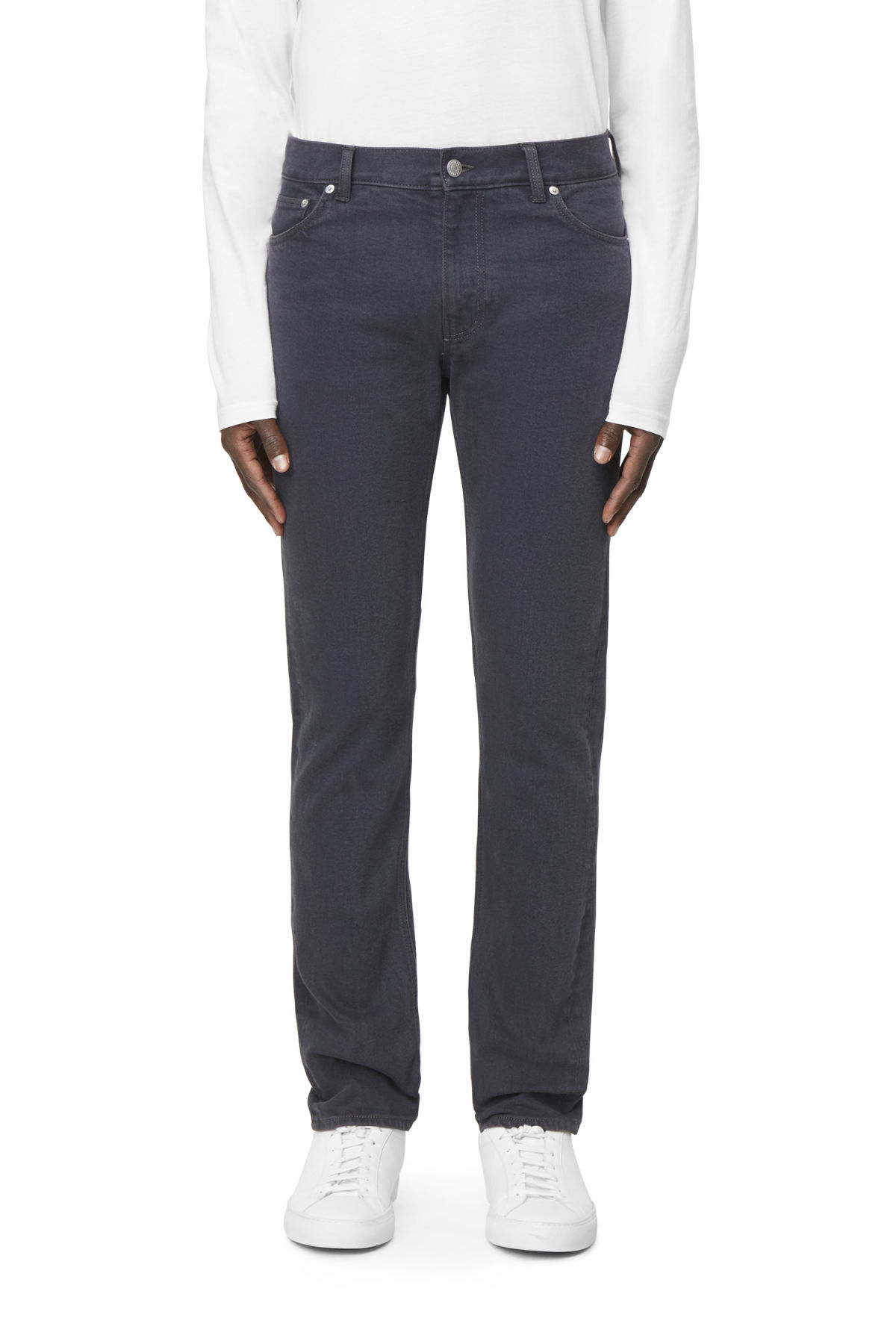 Model front image of Weekday friday od-11 jeans in blue