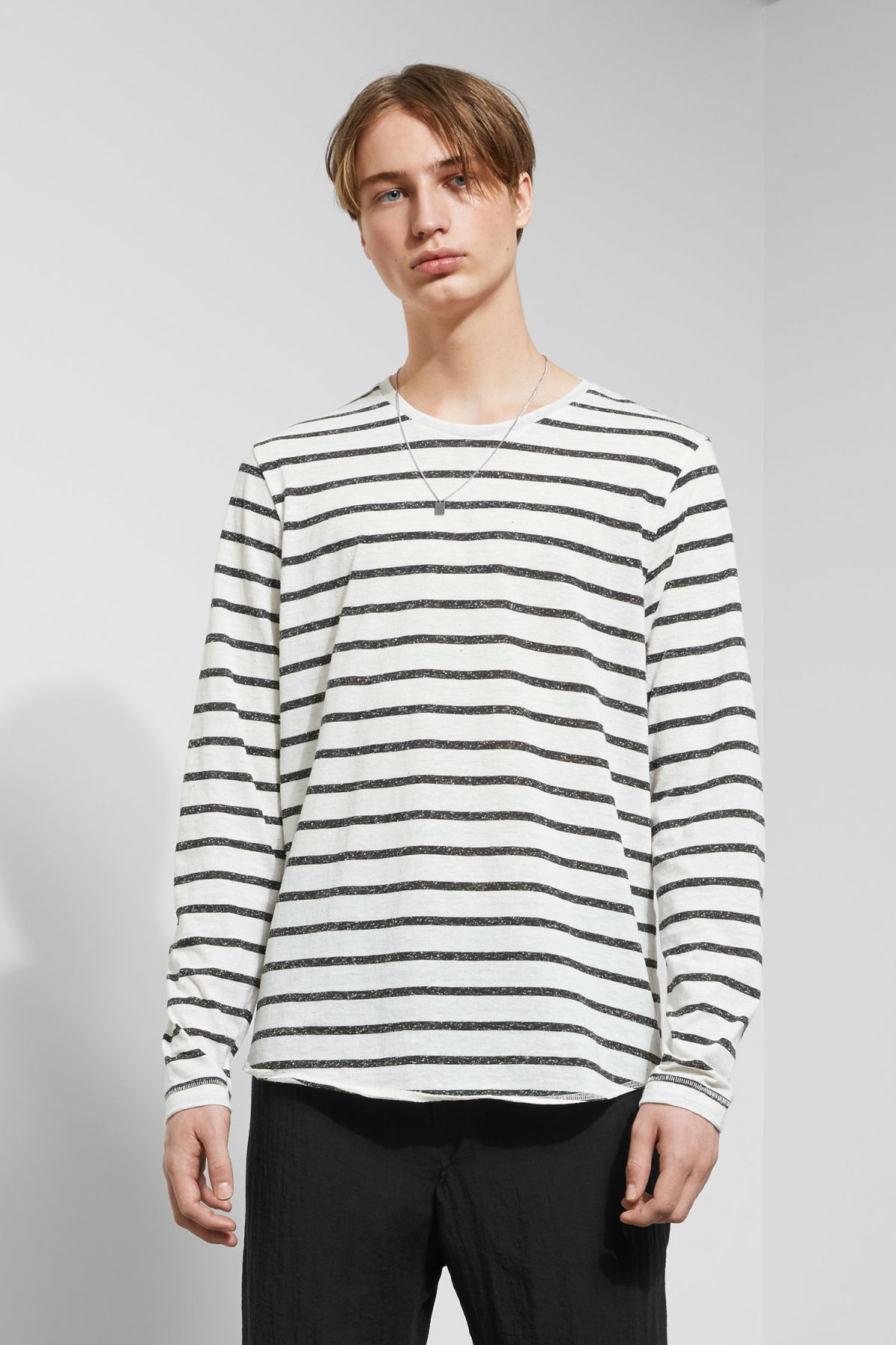 Model front image of Weekday boule long sleeve in black