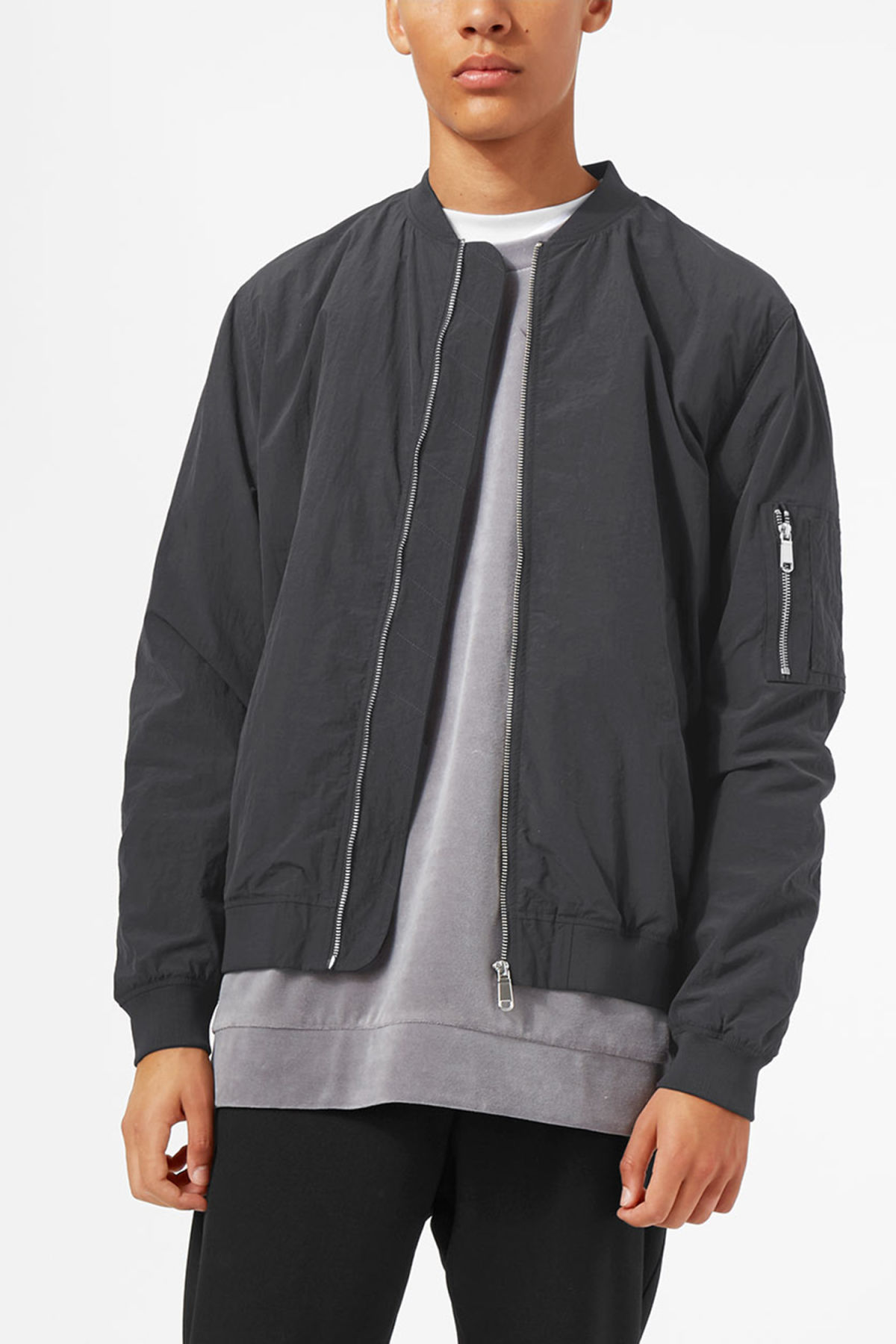 Model front image of Weekday cone bomber in black