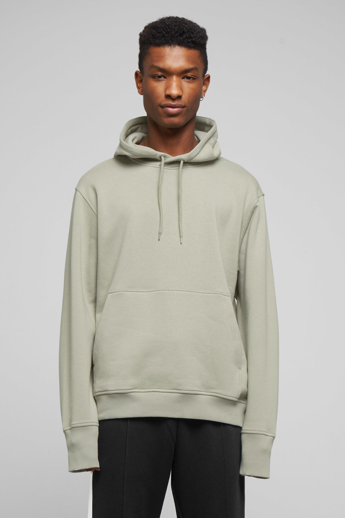 Model front image of Weekday hawk hoodie in green