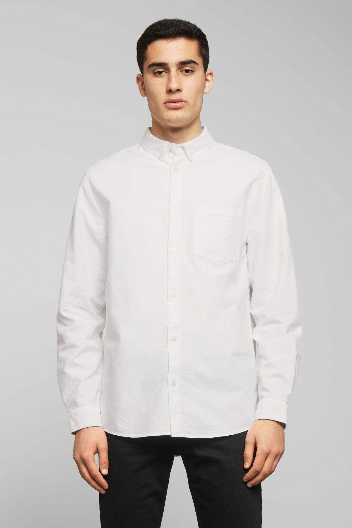 Model front image of Weekday bad times shirt in white