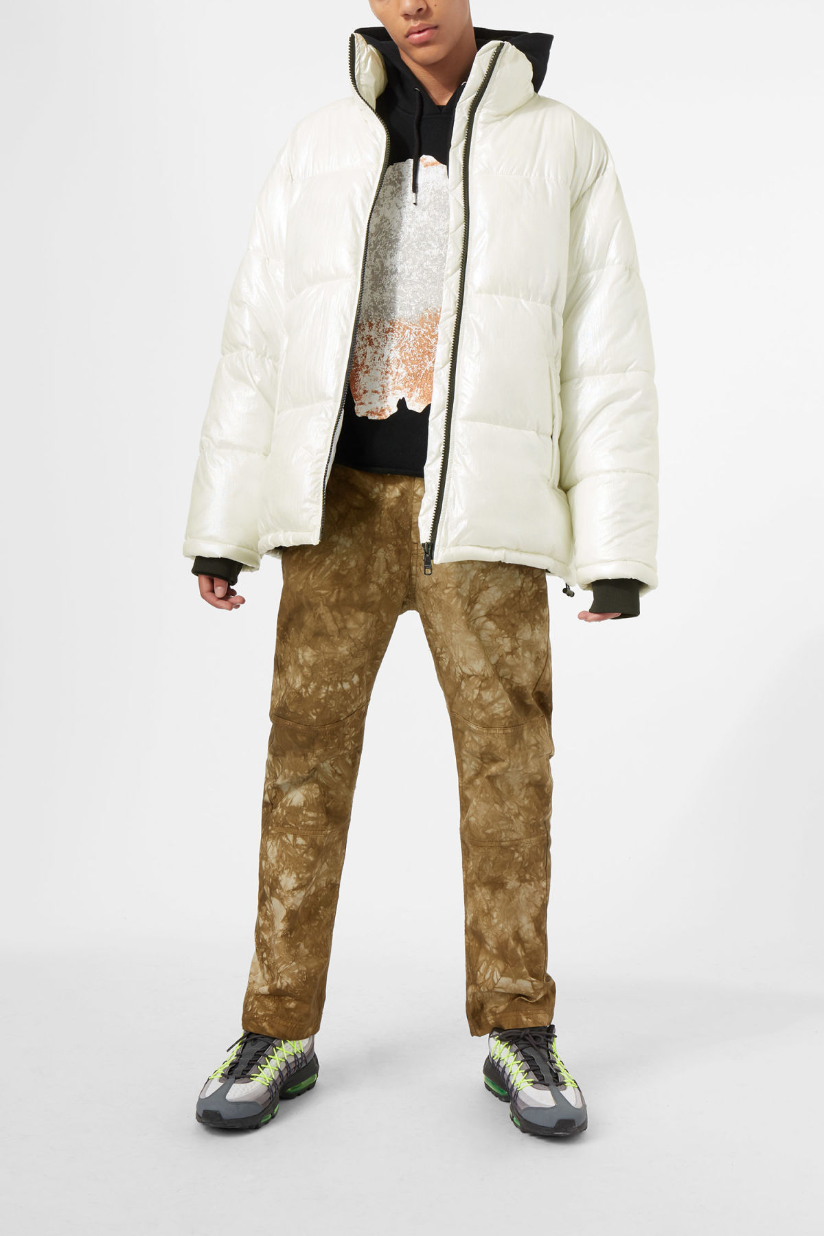 Model side image of Weekday max jacket in white