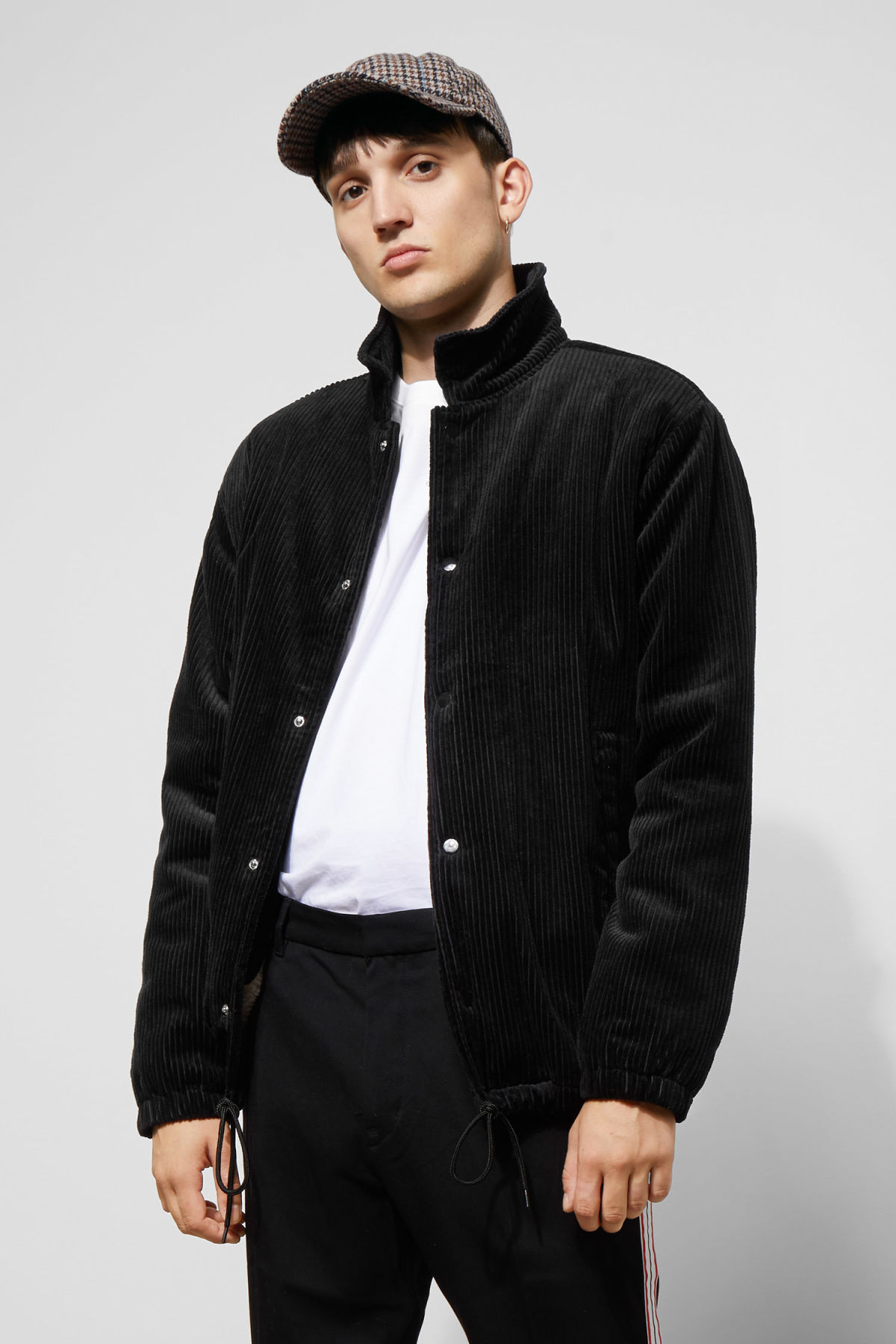 Model front image of Weekday bob coach jacket  in black
