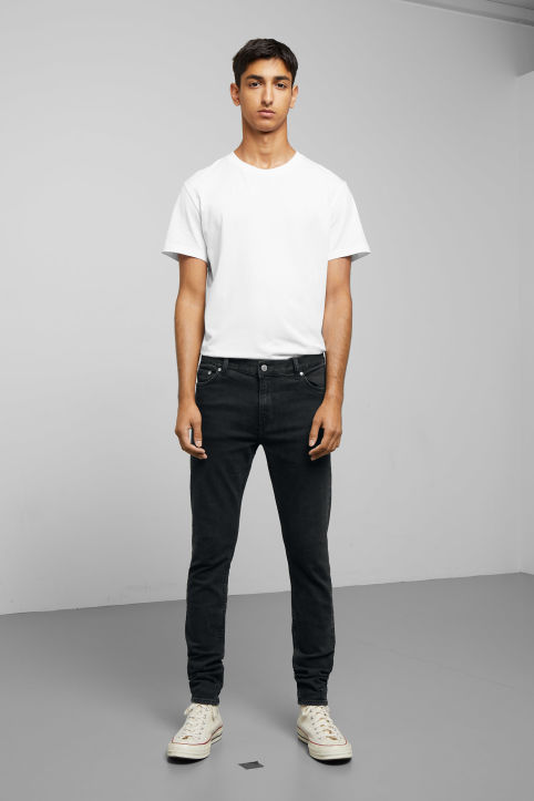 Weekday Form Tuned Black Jeans