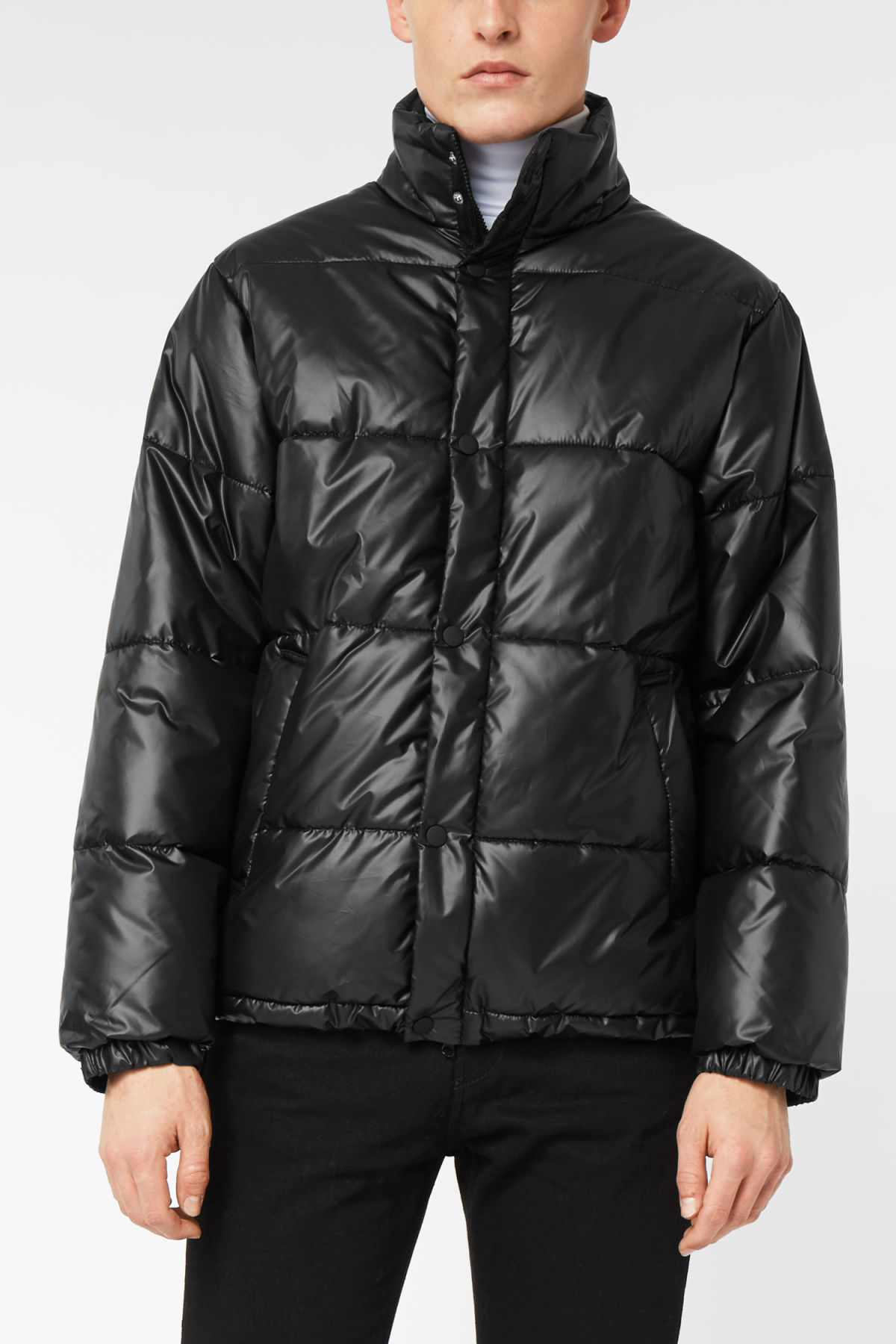 Model front image of Weekday ply jacket in black