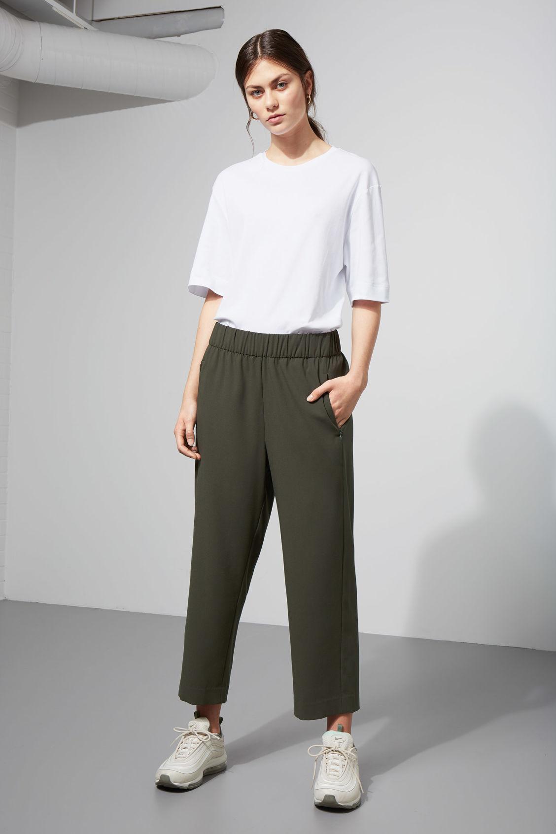 Weekday Amelia Woven Trousers - Green Avec Paypal Pas Cher En Ligne OCke8hYA