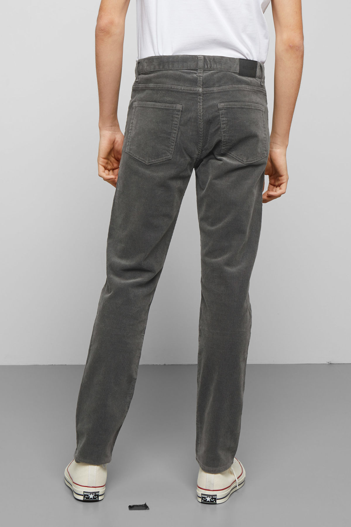 Model side image of Weekday friday corduroy in grey