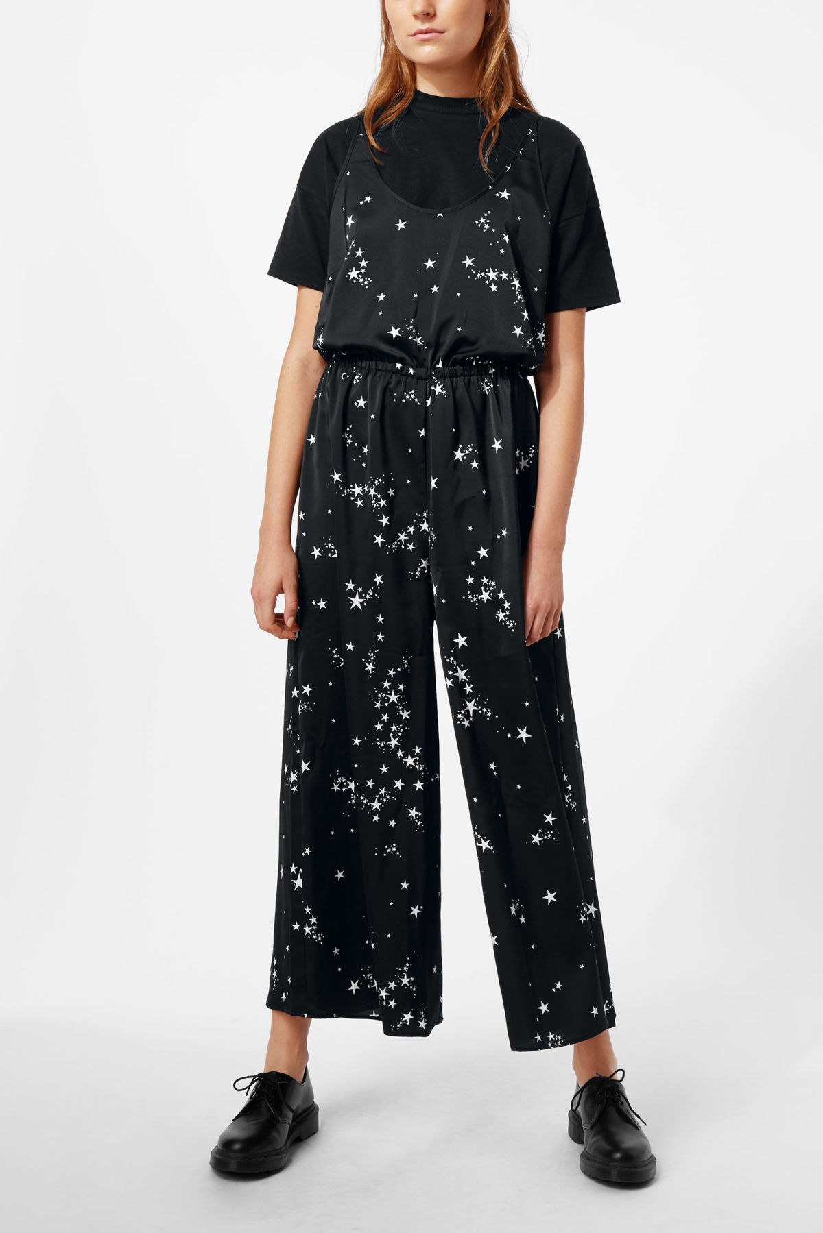 Model front image of Weekday marika jumpsuit in black