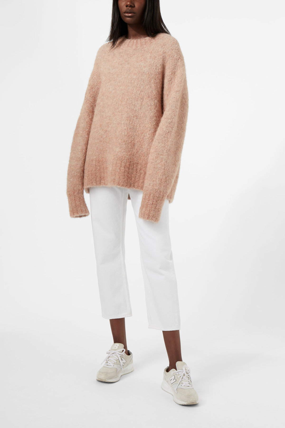 Model front image of Weekday simone turtleneck in orange