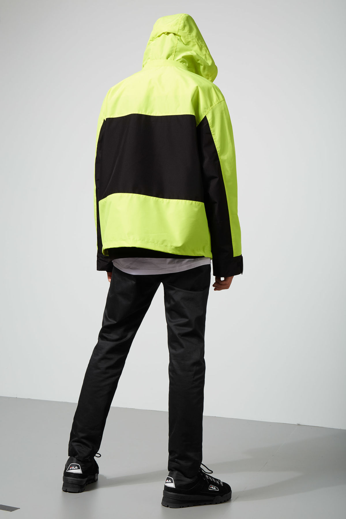 Model side image of Weekday flen jacket  in yellow
