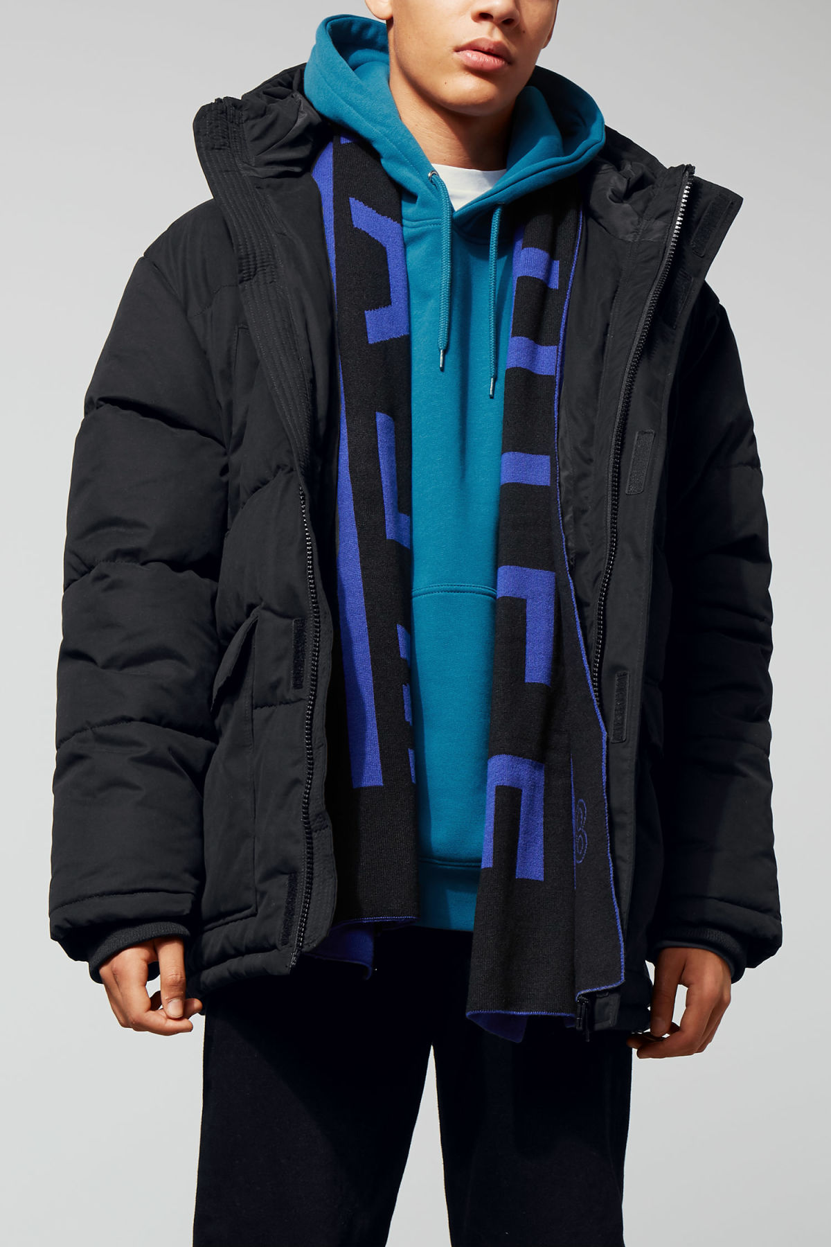 Model front image of Weekday jared jacket in black