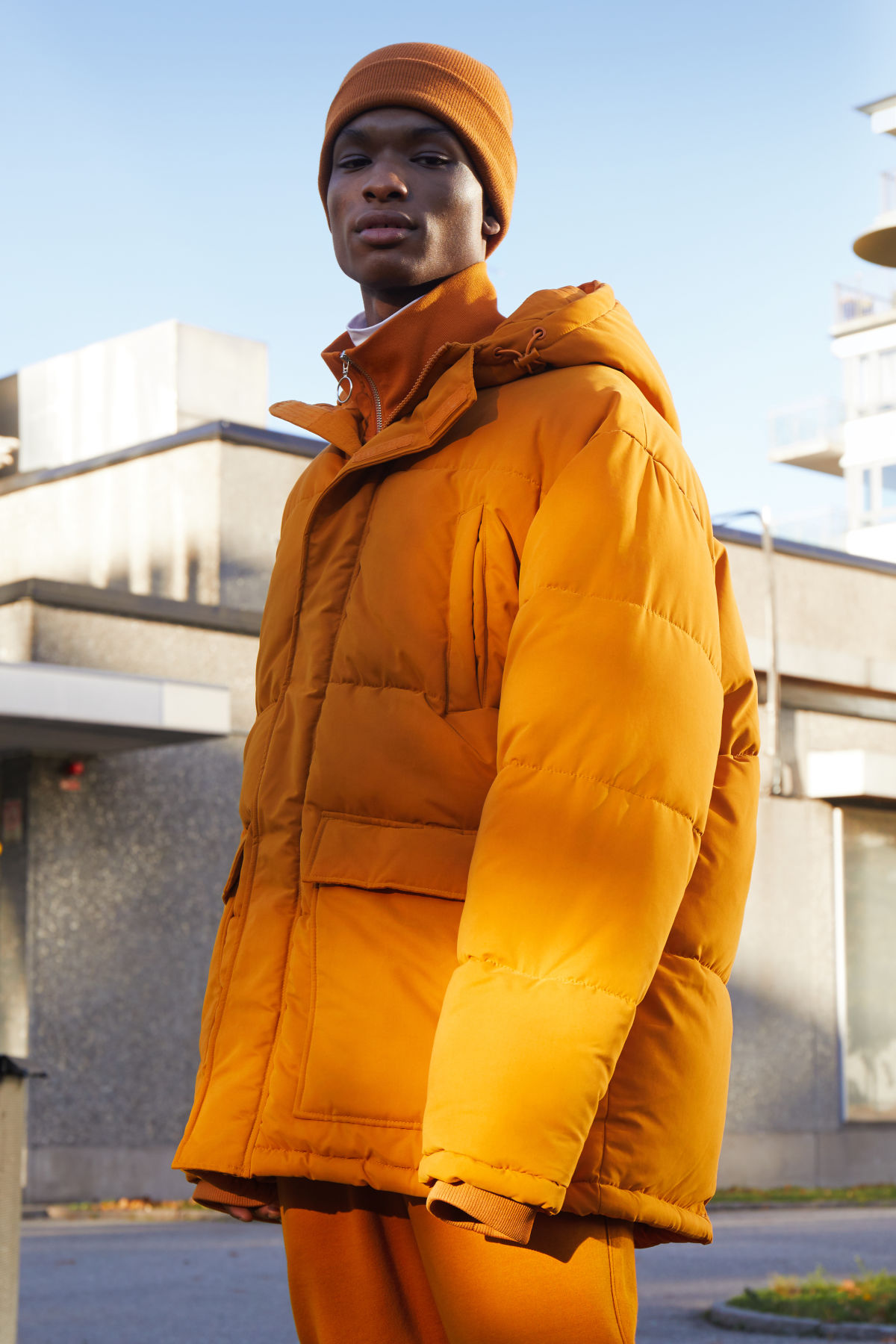 Model front image of Weekday jared jacket in yellow