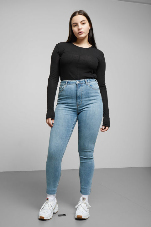 Weekday Body High Light Cut Off Jeans