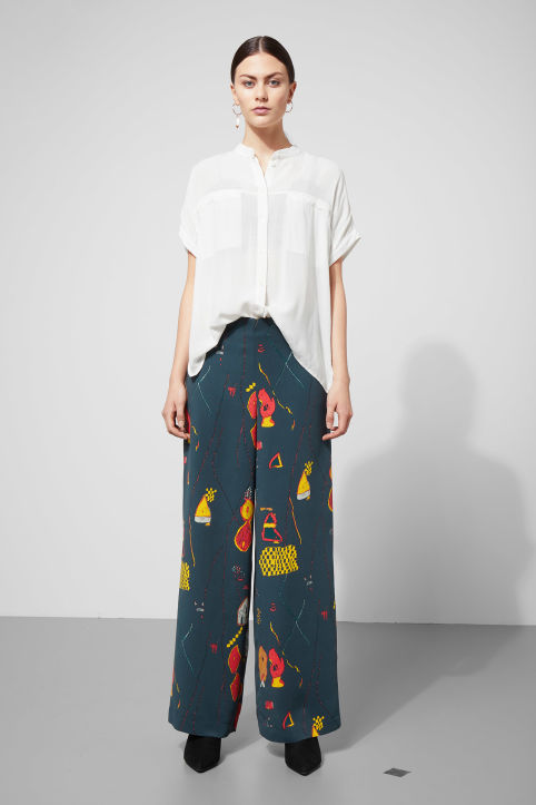 Weekday Julia Print Trousers