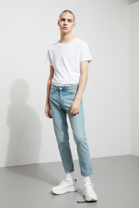 Weekday Vacant Cropped Spring Blue Jeans
