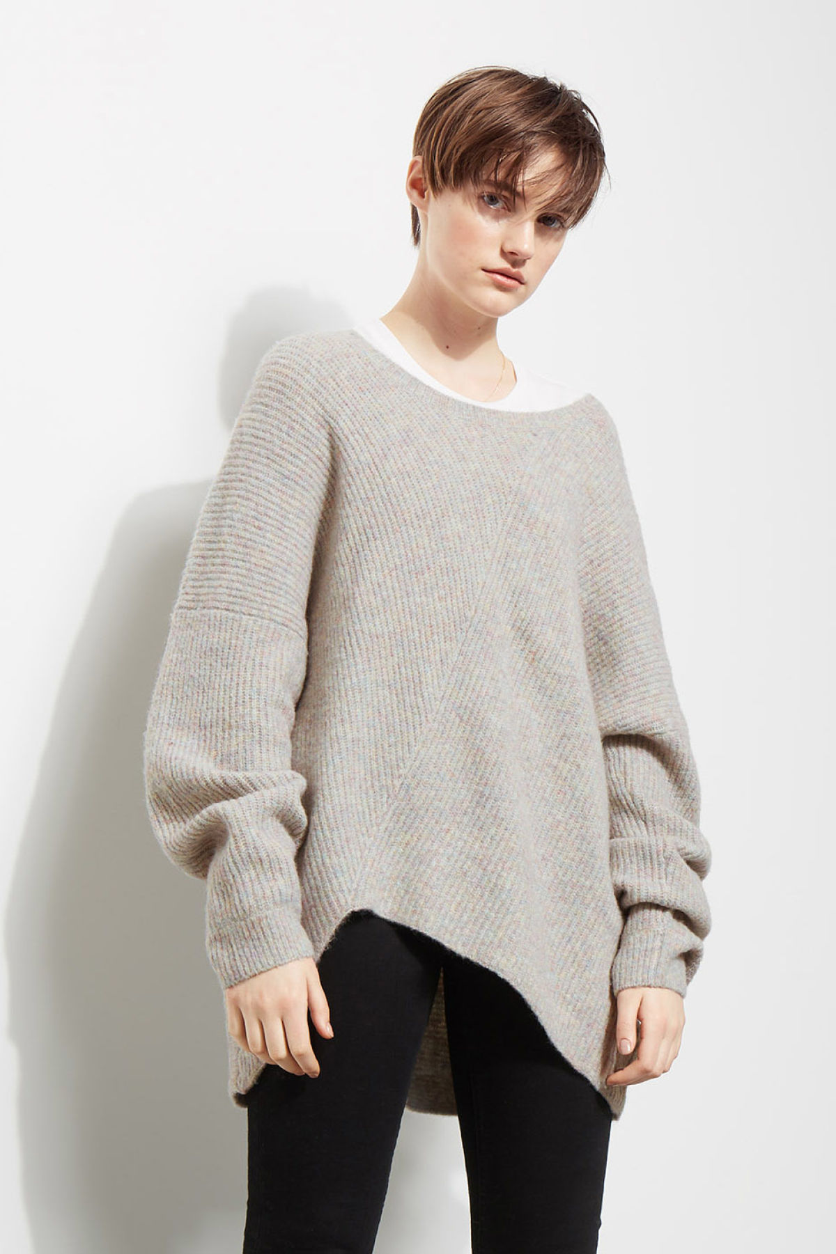 Model front image of Weekday fairy sweater in grey