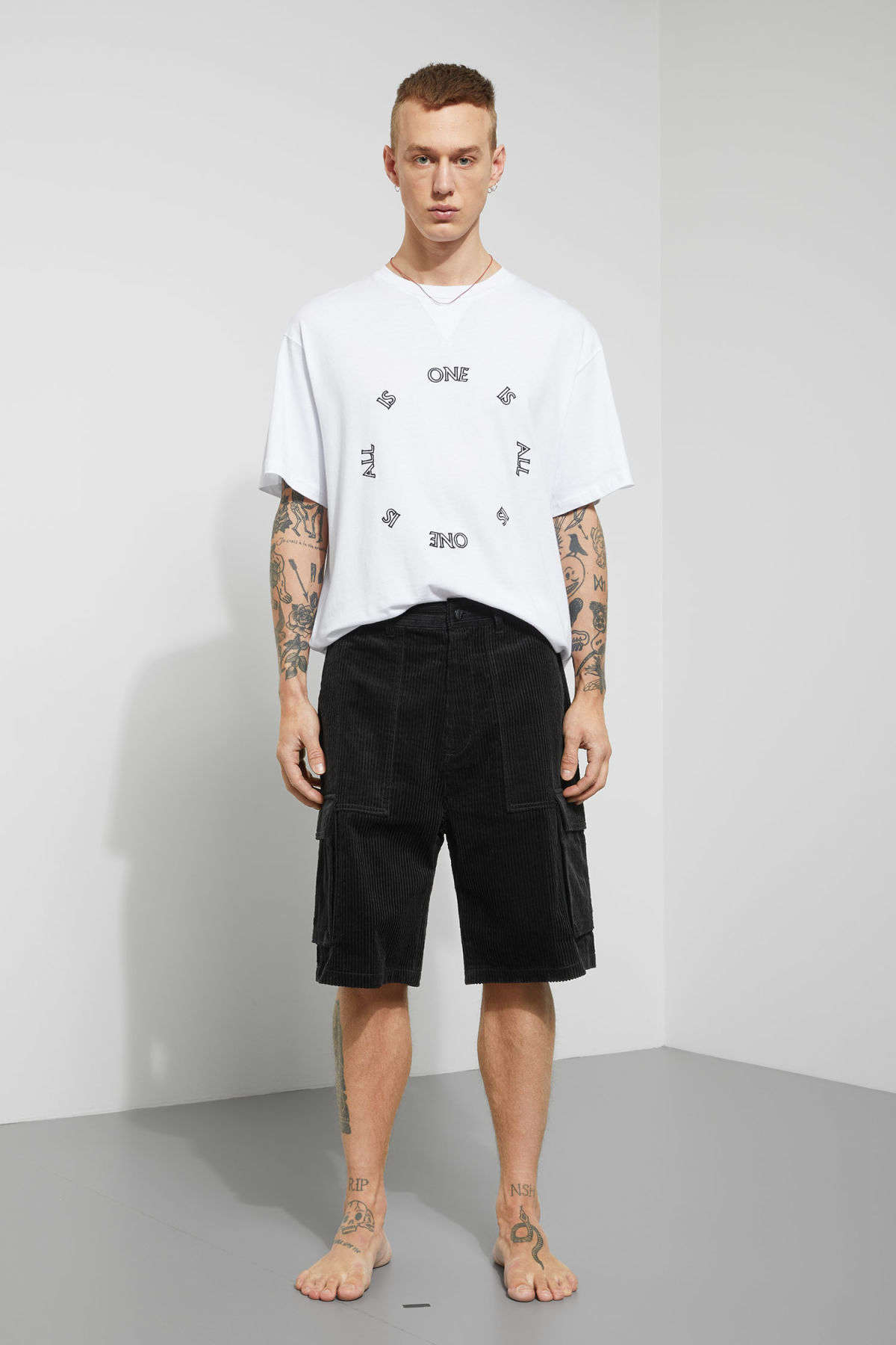 Model front image of Weekday unity shorts  in black