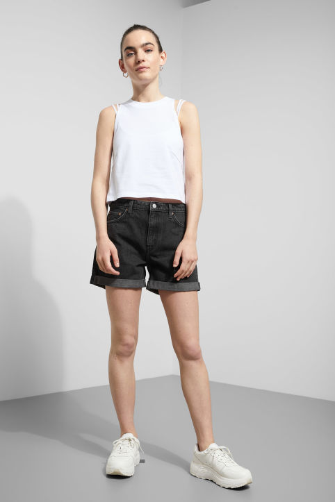 Weekday Lo Trotter Black Shorts