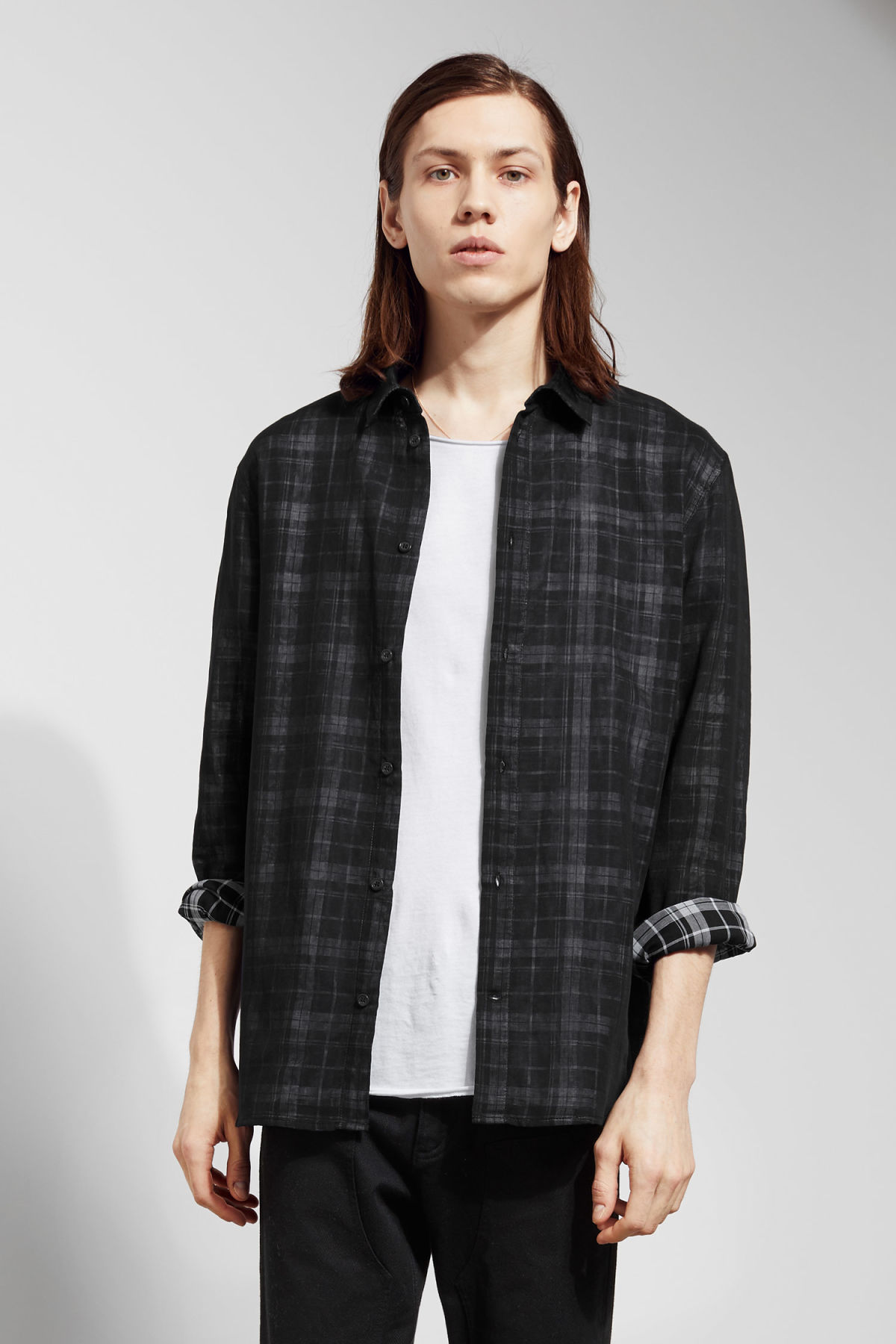 Model front image of Weekday whirl shirt in black