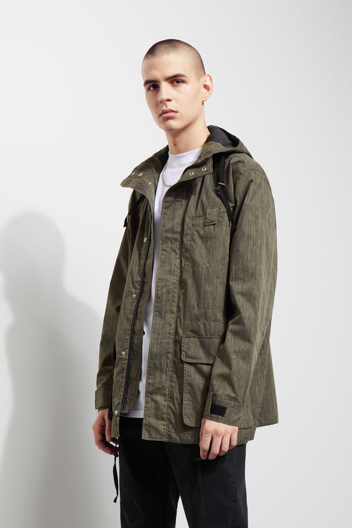 Model front image of Weekday essex jacket in black