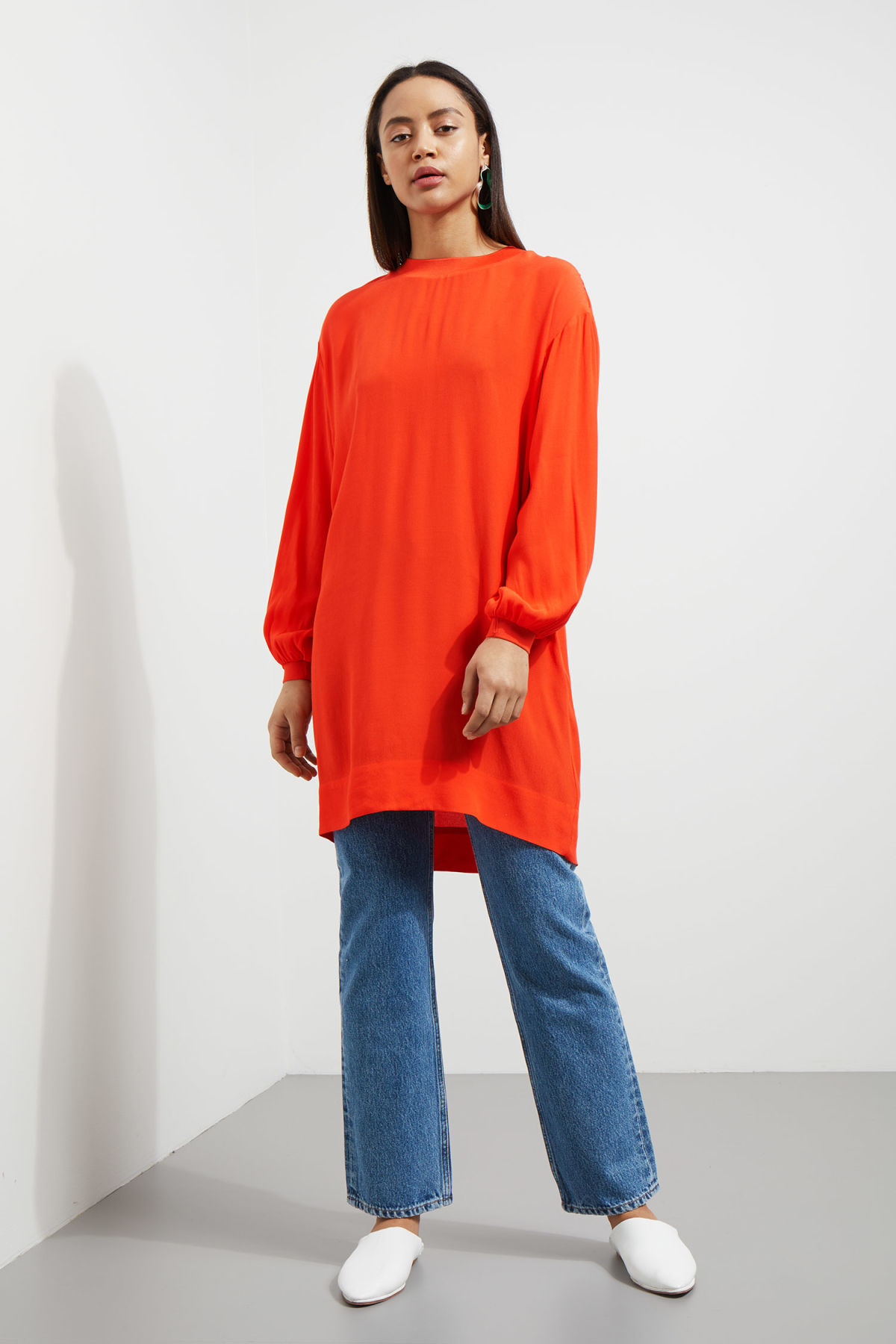 Symbol Woven Dress Orange Dresses Jumpsuits Weekday