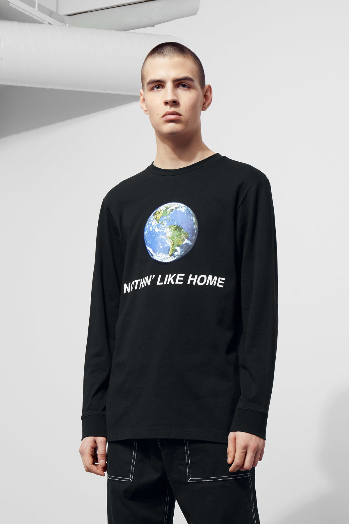 Jeff Nothing Long Sleeve - Black - T-shirts & tops - Weekday