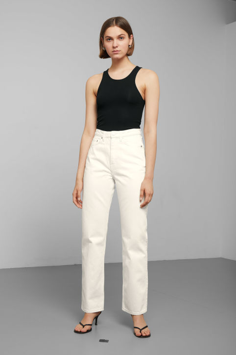 Weekday Row White Jeans