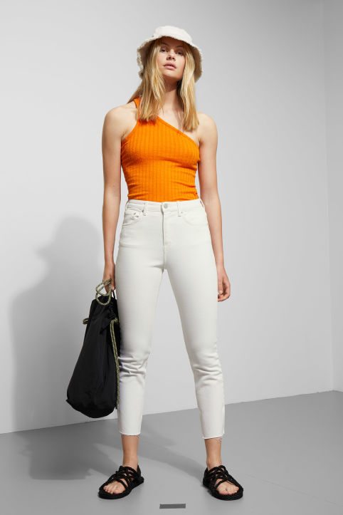 Weekday Way White Cut Jeans