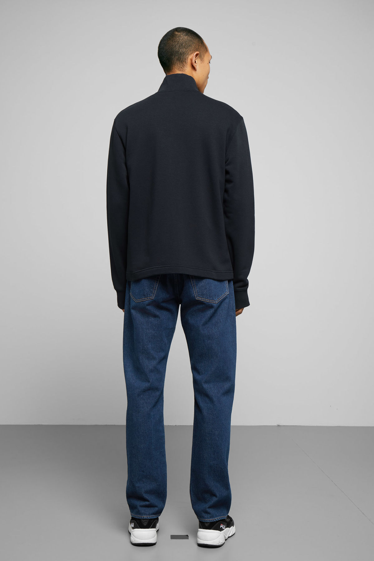 Model back image of Weekday  in blue