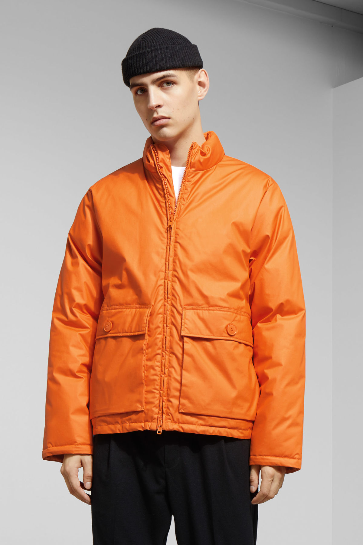 Model front image of Weekday jimmy jacket in orange