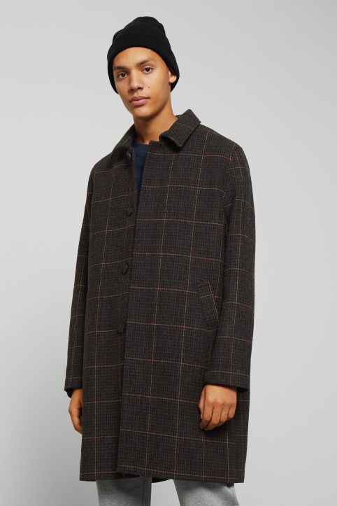 Weekday Carver Checked Coat
