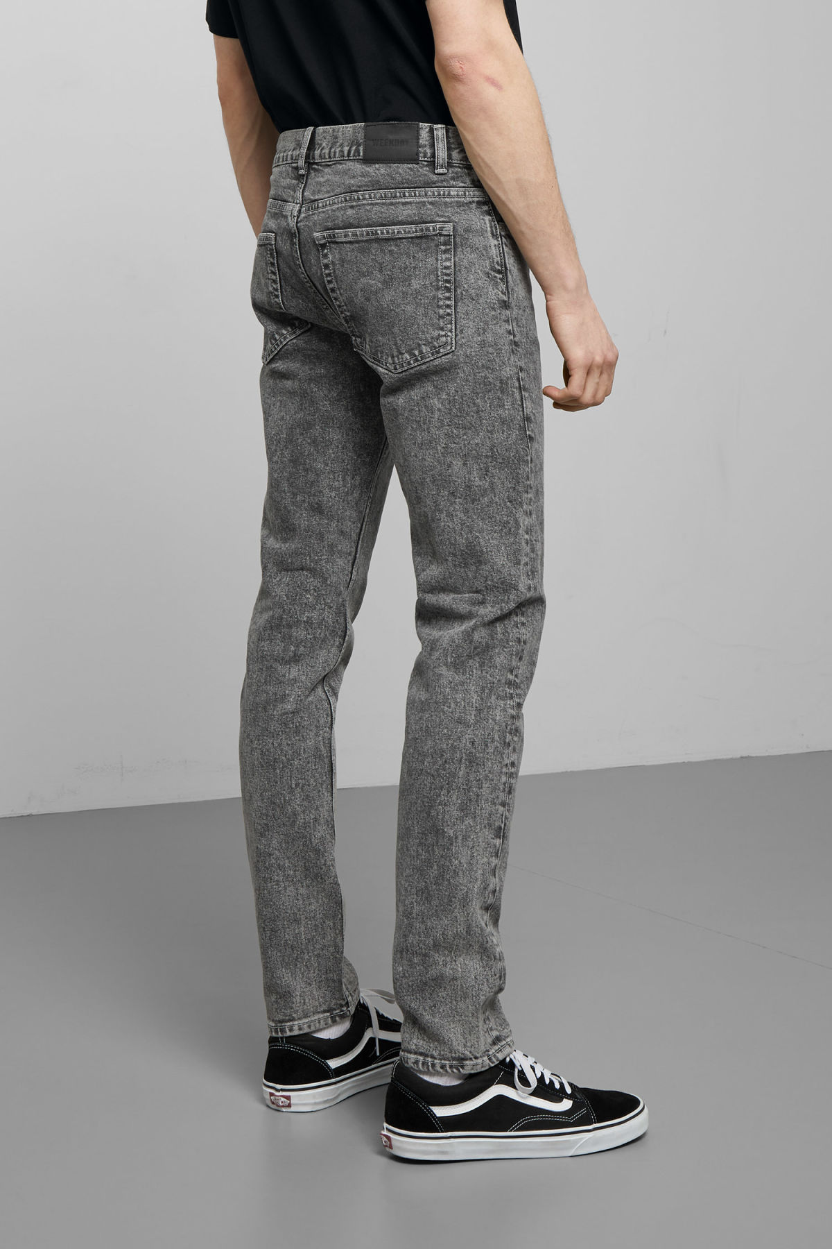 Model back image of Weekday  in grey