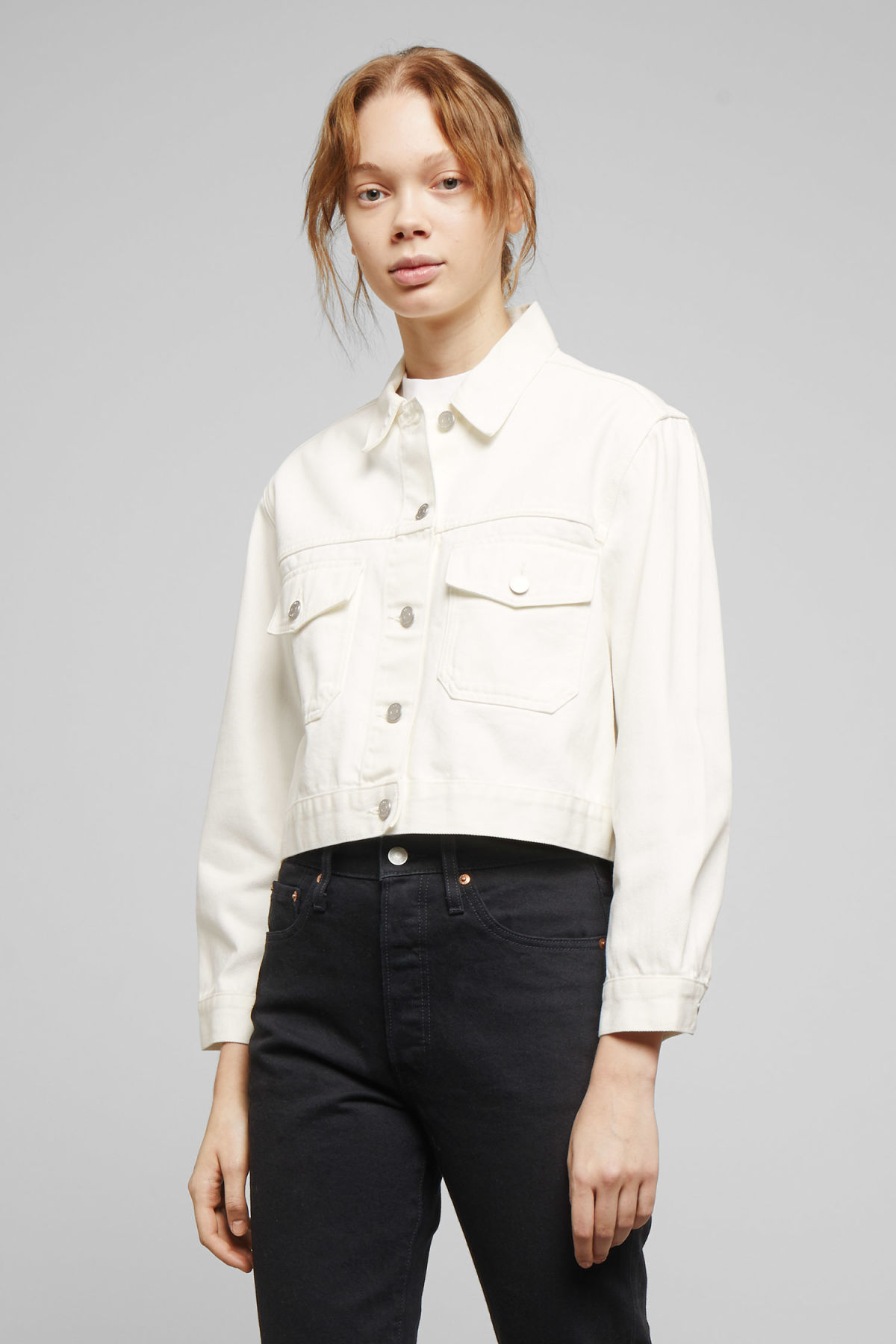 Model front image of Weekday  in white